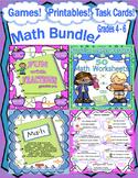 Back to School Math Bundle! Games   Printables   Task Cards   Grades 4 - 6