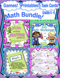 Math Bundle! Games   Printables   Task Cards   Grades 4 - 6