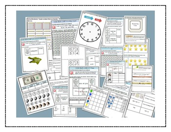 Math Bundle Grade 2- Interactive Notebook Printables and Problem of the Day Pack