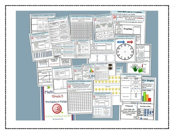 Math Bundle Grade 3- Interactive Notebook Printables and Problem of the Day Pack