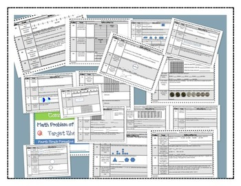Math Bundle Grade 4-Interactive Notebook Printables and Problem of the Day Pack