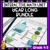 Math Bundle Interactive Notebook Grades 4-5