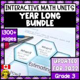 Math Bundle- Interactive Notebook Grade 3
