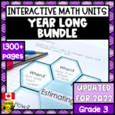 Math Bundle- Interactive Notebook Grade 3