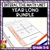 Math Interactive Notebook Bundle Grades 5-6