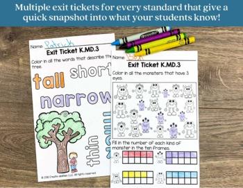 Math Bundle Kindergarten ALL Standards