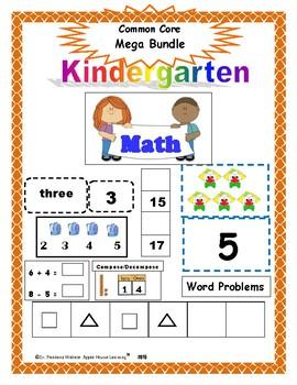 Kinder Math: Kindergarten Math Mega Bundle ALL YEAR - Common Core Aligned