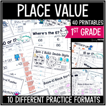 Part Part Whole - Place Value - Number Sense - Math Printables Bundle