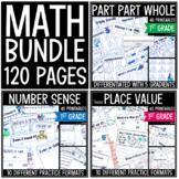 Part Part Whole - Place Value - Number Sense - Math Printables Bundle