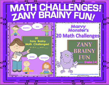 Back to School Math Bundle Zany Brainy Challenges Centers