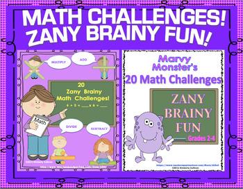 Math Bundle Zany Brainy Challenges Centers