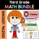 Distance Learning Math Bundle for Third Grade - Interactiv