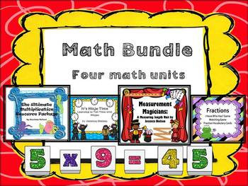 Math Bundled Package: Four Math Units
