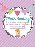Math Bunting: Number Talks Addition and Subtraction
