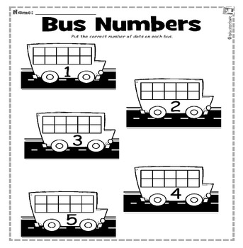 Bus Numbers to 5 Write & Wipe