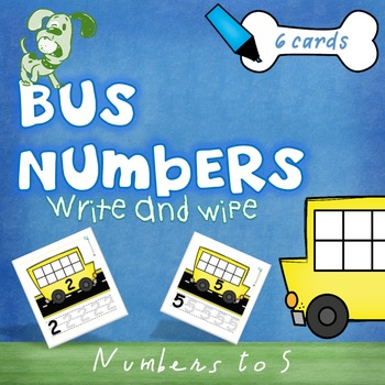 Numbers 1-5 Write and Wipe