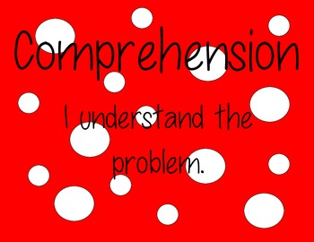 Math CAFE Bulletin Board Heading AND Strategies--Red