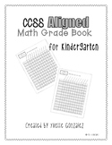 Math CCSS Aligned Grade Book Kindergarten