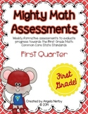 FIRST GRADE Math Formative Assessments - First Quarter