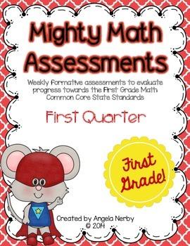 Math CCSS Assessments - FIRST GRADE - First Quarter