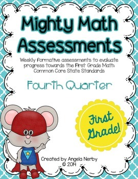 FIRST GRADE Math Formative Assessments - Fourth Quarter