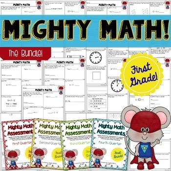 Math CCSS Assessments - FIRST GRADE - Year Long BUNDLE