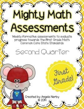 FIRST GRADE Math Formative Assessments - Second Quarter