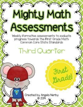 Math CCSS Assessments - FIRST GRADE - Third Quarter