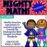 KINDERGARTEN Math Formative Assessments - First Quarter