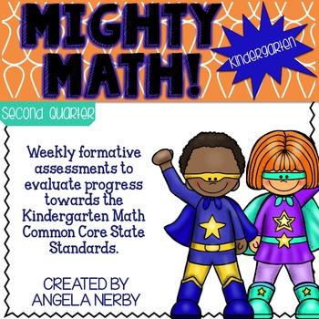 KINDERGARTEN Math Formative Assessments - Second Quarter