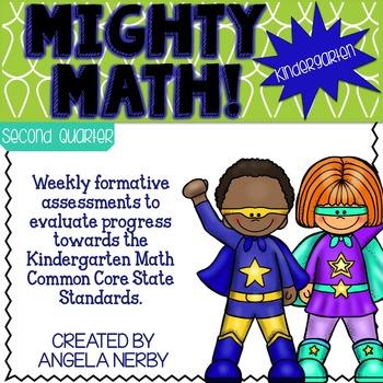KINDERGARTEN Math Formative Assessments - Third Quarter