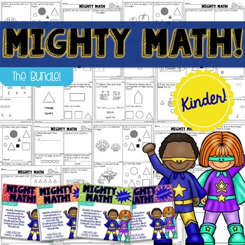KINDERGARTEN Math Formative Assessments - Year Long BUNDLE