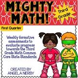 THIRD GRADE Math Formative Assessments - First Quarter