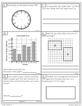 THIRD GRADE Math Formative Assessments - Third Quarter