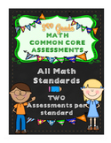 3rd Grade Math CCSS Skills & Constructed/Performance Task Assessments EDITABLE