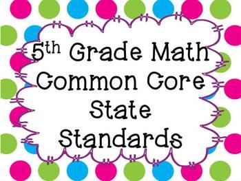 Math CCSS - Grade 5