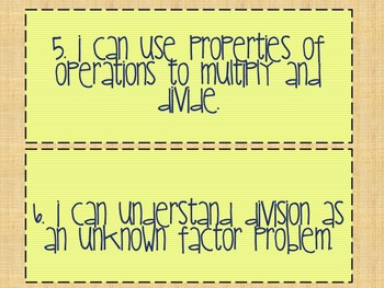 "Math CCSS ""I Can"" Statements for 3rd Grade"