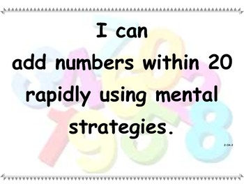 Math CCSS I Can statements part 2