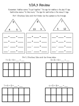 Math CCSS Mini-Workbook Review