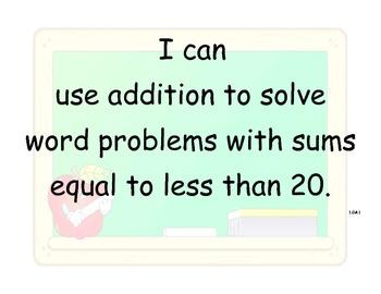 Math CCSS Standards for 1st grade