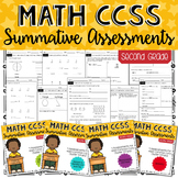 SECOND GRADE Math Summative Assessments - BUNDLE!