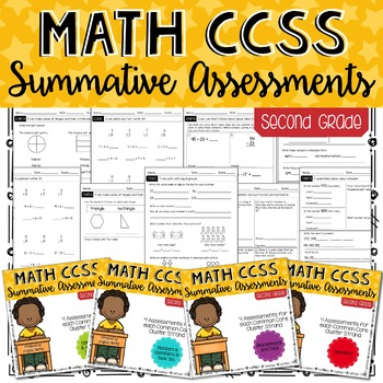 Math CCSS Summative Assessments - SECOND GRADE - BUNDLE!