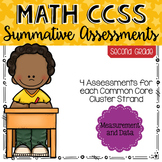 SECOND GRADE Math Summative Assessments - Measurement & Data