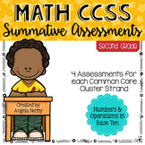 SECOND GRADE Math Summative Assessments - Numbers & Operat