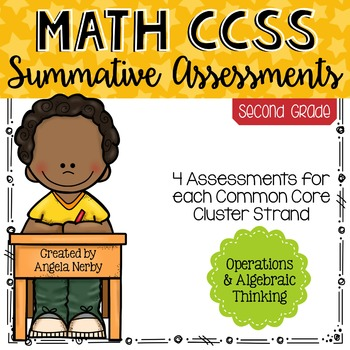 SECOND GRADE Math Summative Assessments - Operations & Algebraic Thinking
