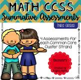 THIRD GRADE Math Summative Assessments - Geometry