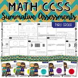THIRD GRADE Math Summative Assessments - BUNDLE!