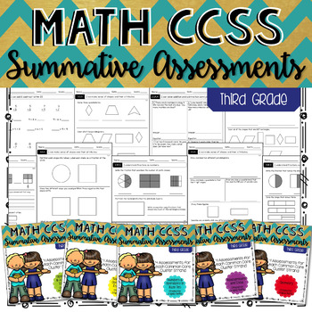THIRD GRADE Math Summative Assessments - BUNDLE!