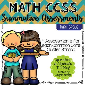 THIRD GRADE Math Summative Assessments - Operations & Algebraic Thinking