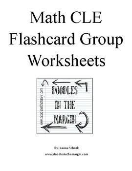 Math CLE Flashcard Group Worksheets